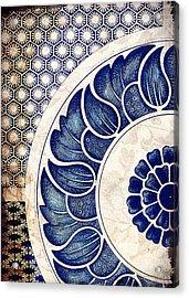 Blue Oriental Vintage Tile 05 Acrylic Print