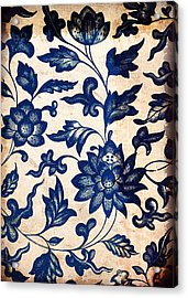 Blue Oriental Vintage Tile 06 Acrylic Print