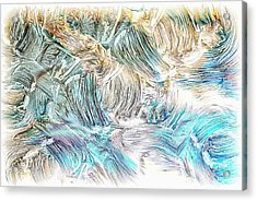 Acrylic Print featuring the photograph Blue Palette by Athala Carole Bruckner