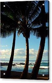 Blue Palms Acrylic Print by Karen Wiles