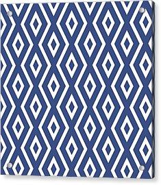 Blue Pattern Acrylic Print