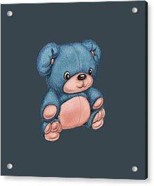 Blue Pink Bear Acrylic Print