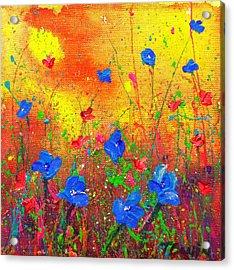 Blue Posies II Acrylic Print