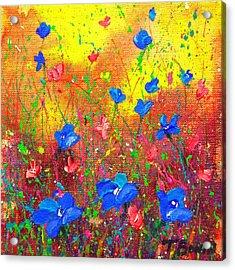 Blue Posies Acrylic Print