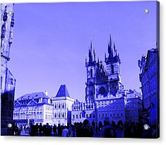 Acrylic Print featuring the photograph Blue Praha by Michelle Dallocchio
