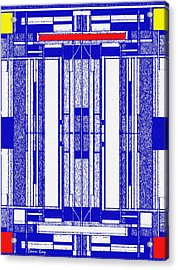 Blue Print Acrylic Print by Donn Kay