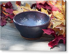 Blue Purple Bowl  Acrylic Print