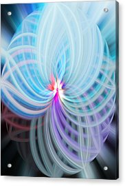 Acrylic Print featuring the photograph Blue/purple Spere by Cherie Duran