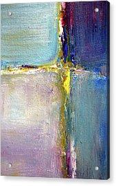 Blue Quarters Acrylic Print by Nancy Merkle