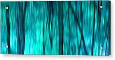 Blue Rain Forest Acrylic Print by Lucie Lenzket