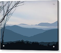 Blue Ridge Above The Clouds Acrylic Print