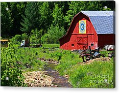 Blue Ridge Barn Acrylic Print