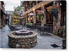 Blue Ridge Courtyard Acrylic Print