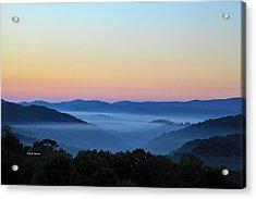 Blue Ridge Dawn Acrylic Print by Dale R Carlson