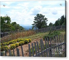 Blue Ridge Garden Acrylic Print by Randy Edwards