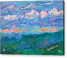 Blue Ridge Magic From Sharp Top Stage One Acrylic Print by Kendall Kessler