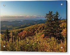 Blue Ridge Mountain Autumn Vista Acrylic Print