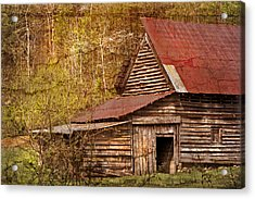 Blue Ridge Mountain Barn Acrylic Print by Debra and Dave Vanderlaan