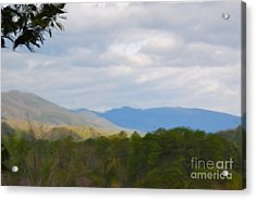 Acrylic Print featuring the painting Blue Ridge Mountain by Jan Daniels