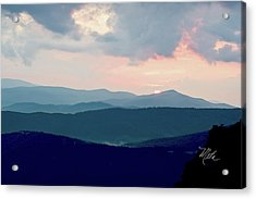Blue Ridge Mountain Sunset Acrylic Print
