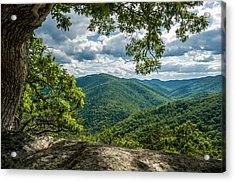 Blue Ridge Mountain View Acrylic Print