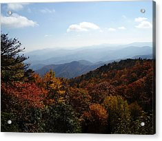 Blue Ridge Mountains Acrylic Print by Flavia Westerwelle