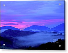 Blue Ridge Mountains Sunset Acrylic Print
