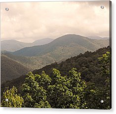 Blue Ridge Overlook Acrylic Print by Eva Thomas