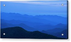 Blue Ridge Panorama Acrylic Print by Andrew Soundarajan