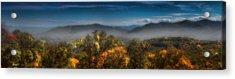 Acrylic Print featuring the photograph Blue Ridge Panorama by Ellen Heaverlo