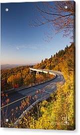 Blue Ridge Parkway Linn Cove Viaduct Fall Colors 2 Acrylic Print by Dustin K Ryan