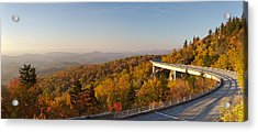 Blue Ridge Parkway Linn Cove Viaduct Fall Colors Acrylic Print by Dustin K Ryan