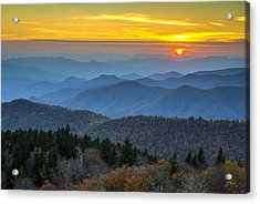 Blue Ridge Parkway Sunset - For The Love Of Autumn Acrylic Print