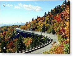 Blue Ridge Parkway Viaduct Acrylic Print by Meta Gatschenberger