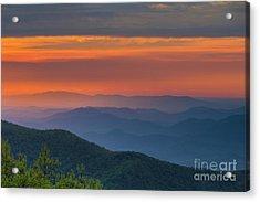 Blue Ridge Sunrise At Wintergreen  Acrylic Print