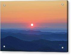 Blue Ridge Sunrise Acrylic Print by Dale R Carlson