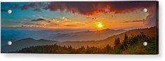 Blue Ridge Sunset Pano Acrylic Print
