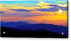 Blue Ridge Sunset, Virginia Acrylic Print
