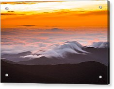 Blue Ridge Valley Of Clouds Acrylic Print