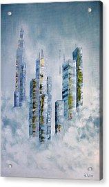 Blue Rising Acrylic Print