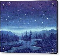 Blue River 01 Acrylic Print