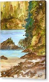 Blue River Acrylic Print by Anisha Bordoloi