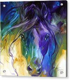 Blue Roan Abstract Acrylic Print