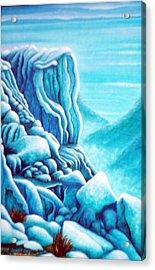 Blue Rocks Acrylic Print by Barbara Stirrup