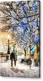 Blue Romance Acrylic Print by Shirley Stalter