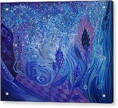Blue Rosebud Ballroom Acrylic Print