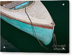 Blue Rowboat 1 Acrylic Print by Susan Cole Kelly