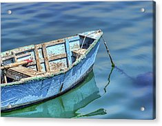 Blue Rowboat At Port San Luis 2 Acrylic Print