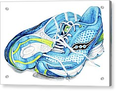 Blue Running Shoes Acrylic Print