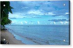 Blue Sand Acrylic Print